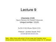 Lecture 9 given Sp 09