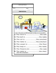 worksheet 7 (Preposition-2)