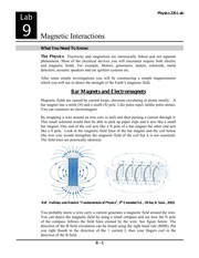 Lab 10- Magnetic Interactions
