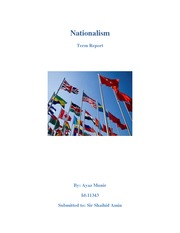 Pak Studies - Nationalism final report