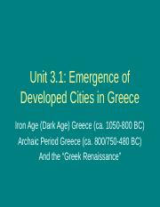 3.1 Iron Age & Archaic Greece .ppt
