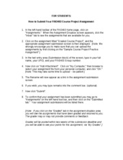 How to Submit Your FIN3403 Project Assignment