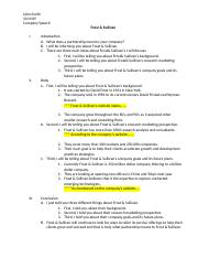 Business Project Outline Example-1