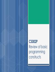 CS002P_W1 - Review of basic programming constructs