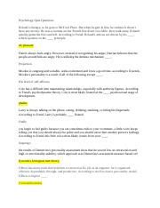 psychology exam 3 questions