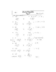 Test 1 Solution Math 110