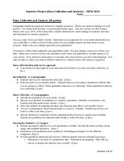 MTH 1050 - Stats Project (Data Collection and Analysis) (1).docx