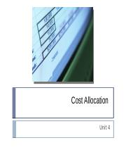 Part A Cost Allocation.pptx