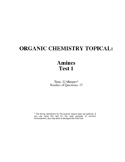 amines test w. solutions