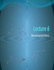 Lecture 6 neurotransmitters