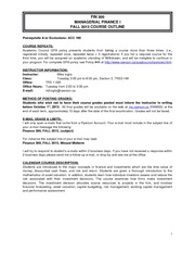 FIN300 Course Outline Fall 2013  (1)