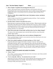 great gatsby answers chapter 5 quiz the great gatsby chapter 5
