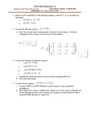 EED305 Tutorial-5