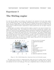 The Stirling Engine Lab Experiement For PHYS 1P93
