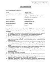 Surat Pernyataan Penjaga Tahanan Umum Doc Format Surat Pernyataan