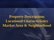 Chapter 5 Locational Characteristics
