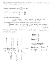 Test 4 Solution Summer 2014 on Pre-Calculus