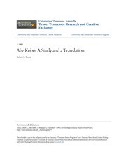 Abe Kobo_  A Study and a Translation