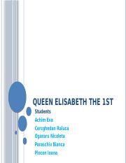 Queen elisabeth the 1st