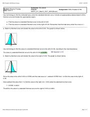 Find the area in a standard Normal curve
