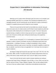 Project Part 2 Vulnerabilities in IT security.docx