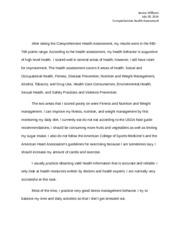 health history assessment