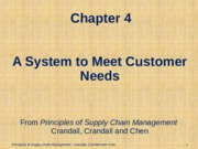 Chapter 04 A System to Meet Customer Needs PSCM2E