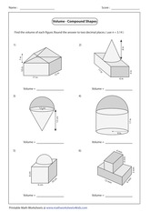 compound shapes math geometry worksheets compound best free printable worksheets. Black Bedroom Furniture Sets. Home Design Ideas