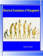MGMT101 L2 3 March 16 Historical Foundations of Management bb