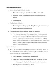 Labor and Wealth in Society Notes