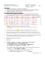 Rec 11 - Chp 9 Hypothesis Tests for a Population Mean (2020) (a.o).docx