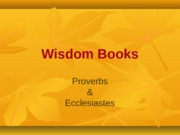 Proverbs and Ecclesiastes.docx