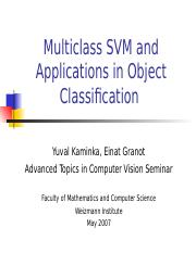 3346677 ppt - Multiclass SVM and Applications in Object