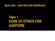 BKAA 3023 - Topic 1 - Code of Ethics for Auditors(1)