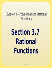 3.7 - Rational Functions