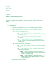 FIN 386 Test 3 Study Guide