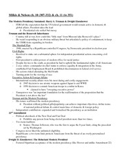 MilkisNelson reading notes- Ch. 10 & 11