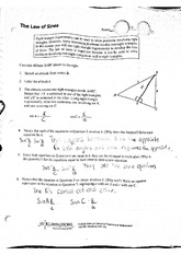 Law of Sines Notes