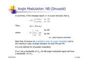 Lecture Notes on Angle Modulation