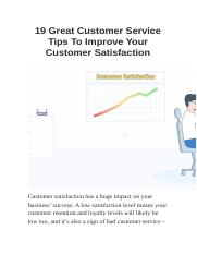 19 Great Customer Service Tips To Improve Your Customer Satisfaction.docx