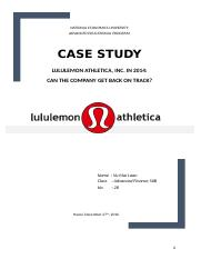 fin300 lululemon case study national economics university advanced educational program case study lululemon athletica inc in 2014 can the company get