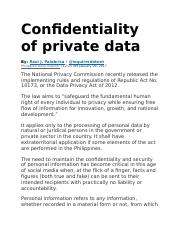 Confidentiality of private data.docx
