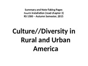 fourth installment.culture and diversity in America and around the world