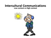 MKTG 4400 - Low context vs. High Communications