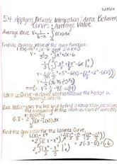 5.4 applying definite integration area between curves and average value notes
