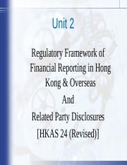 Unit 2 - Regulatory FW & Related Party