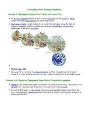 Principles-of-LIfe-Summary-Ecology-Part-1
