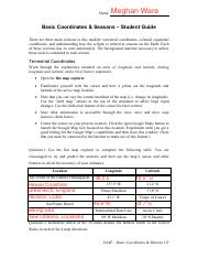 basic coordinates seasons student guide Name: naap - basic coordinates & motions 1/8 basic coordinates & seasons - student guide the applet and all materials for this lab can be.