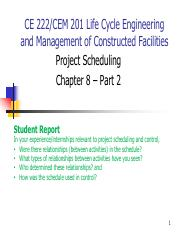 Chapter 8 - Scheduling - Part 2