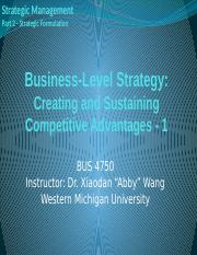 Chapter 05-1 - Strategic Management (2)
